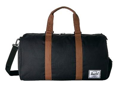 Herschel Supply Co. Novel (Black/Saddle Brown) Duffel Bags
