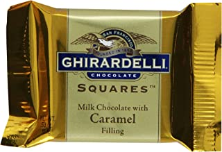Ghirardelli Chocolate Squares, Milk Chocolate with Caramel Filling, 0.53-Ounce Squares (Pack of 430)