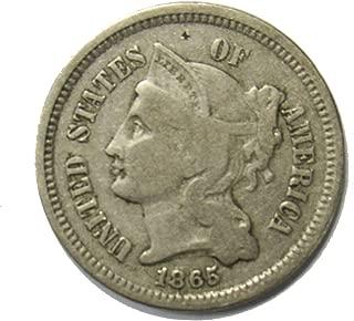 1865 iii cent piece