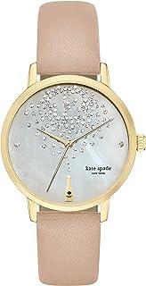 kate spade new york Goldtone Metro Champagne Vachetta Leather Watch