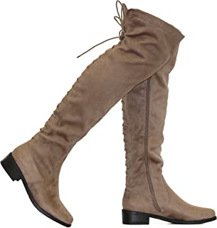 bfb3a9ccbf3be Amazon.com: Lace-up - Over-the-Knee / Boots: Clothing, Shoes & Jewelry