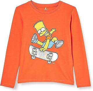 NAME IT Nmmsimpsons Jokke LS Top LIC Camiseta sin Mangas para Niños