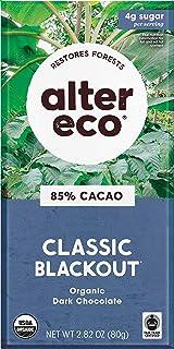 Alter Eco | Single Chocolate Bars | Pure Dark Cocoa, Fair Trade, Organic, Non-GMO, Gluten Free (Classic Blackout)