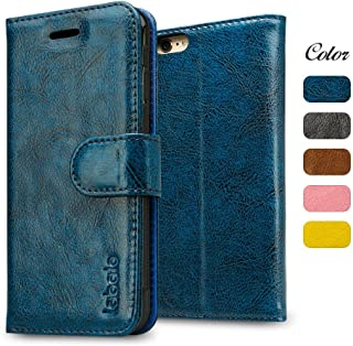 iPhone 6S Plus Case, Labato Wallet 6S Plus Genuine Leather Folio Flip Case Cover Magnetic Stand Function with Card Slots/Cash Compartment for Apple iPhone 6 Plus/ 6S Plus 5.5