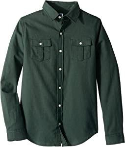 Brushed Twill Button Up Shirt (Toddler/Little Kids/Big Kids)