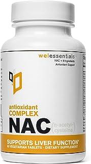 WelEssentials NAC Antioxidant Complex - 600m N-Acetyl-Csteine x 60 Veg Tablet - with Vitamin C, Selenium, Molybdenum and Z...