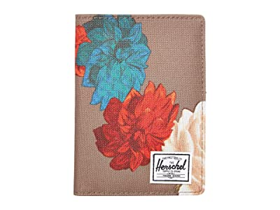 Herschel Supply Co. Raynor Passport Holder RFID (Vintage Floral Pine Bark) Wallet Handbags
