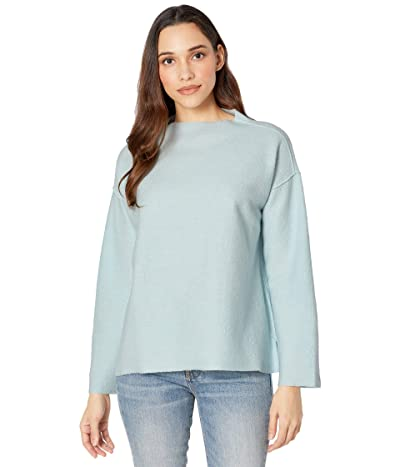 Eileen Fisher Funnel Neck Box Top (Clearwater) Women
