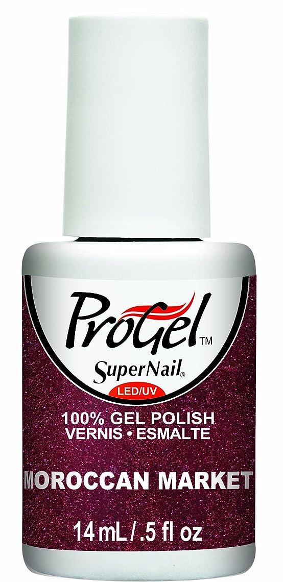 ペレグリネーション気取らない騒々しいSuperNail ProGel Gel Polish - Moroccan Market - 0.5oz / 14ml