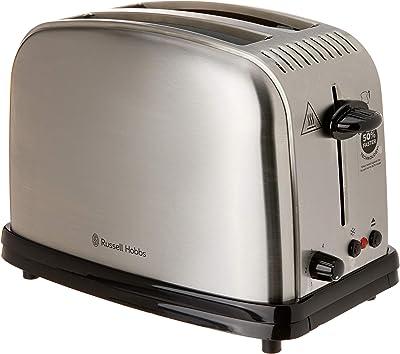 Russell Hobbs RHT12BRU Classic Toaster 2 Slice, Silver