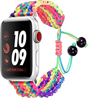 Ethnic Nylon Weave Strap for Apple Watch, Bandmax 38MM/42MM Comfortable Nylon Replacement Wrist Band for iWatch Series 1/2...