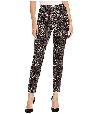 HUE Ponte 7/8 Leggings (Brown/Leopard) Women