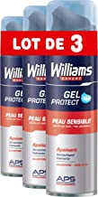 Williams Expert Gel Afeitar Piel Sensible - 3 Paquetes x 200 ml - Total: 600 ml