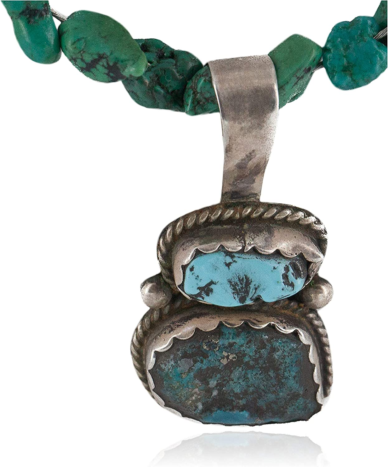 Ranking TOP13 $450Tag Silver Certified NEW before selling ☆ Navajo Neckla Native American Turquoise