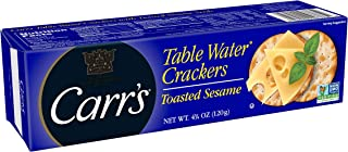 Carr's Table Water Crackers with Sesame Seeds, 4.25 Oz