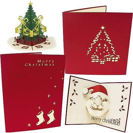 Renne Ideale Regalo per Natale per Biglietti Natalizi Biglietto Dauguri di Capodanno Biglietto Auguri di Natale BETOY 3D Pop up Biglietto d Auguri Fatto a Mano Biglietti di Auguri di Natale 3D