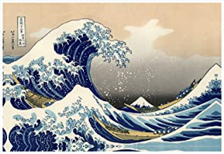 Wieco Art Great Wave of Kanagawa Katsushika Hokusai Extra Large Modern Gallery Wrapped Giclee Canvas Prints Abstract Seascape Sea Artwork Pictures Paintings on Canvas Wall Art for Home Decor XL