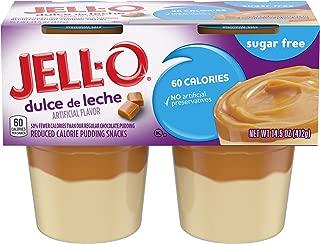 JELL-O Dulce de Leche Sugar Free Dessert Pudding (14.5 oz Package, 4 Cups)