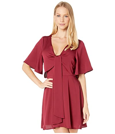 BCBGeneration Day Tie Front Open Back Dress TIR6229278 (Deep Red) Women