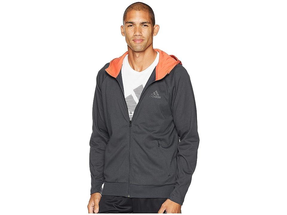adidas Sport 2 Street Lifestyle Hoodie (Carbon/Raw Amber) Men