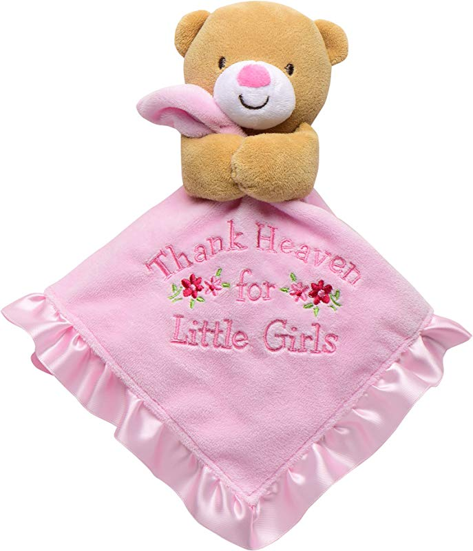 Baby Starters Snuggle Buddy With Blanket Rattle Thank Heaven For Little Girls Bear Pink