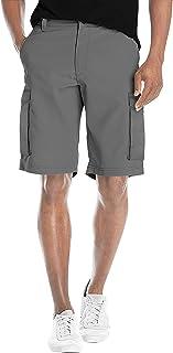 Agile Mens Super Comfy Stretch Flex Waist Cargo Shorts Flat Front/Cargo
