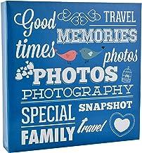 Arpan–Álbum de fotos antideslizante con anillas y capacidad para 500 fotos de 10x 15cm, color azul