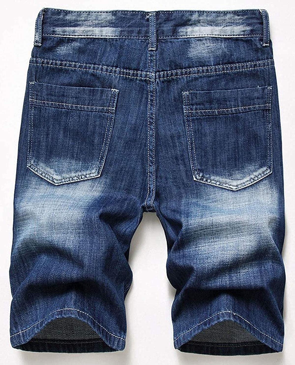HFStorry Men's Summer Casual Distressed Ripped Denim Shorts Capris Pants Jeans