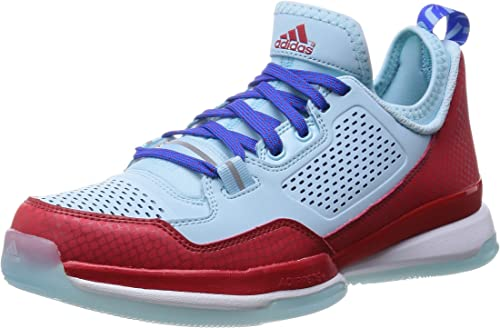 Adidas D Lillard, Oakland Rebels-Bleu Rouge, 7,5 M Us