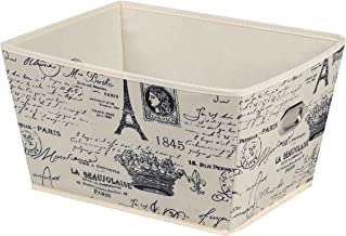 Home Basics Paris Collection Storage and Organization (Large Bin)