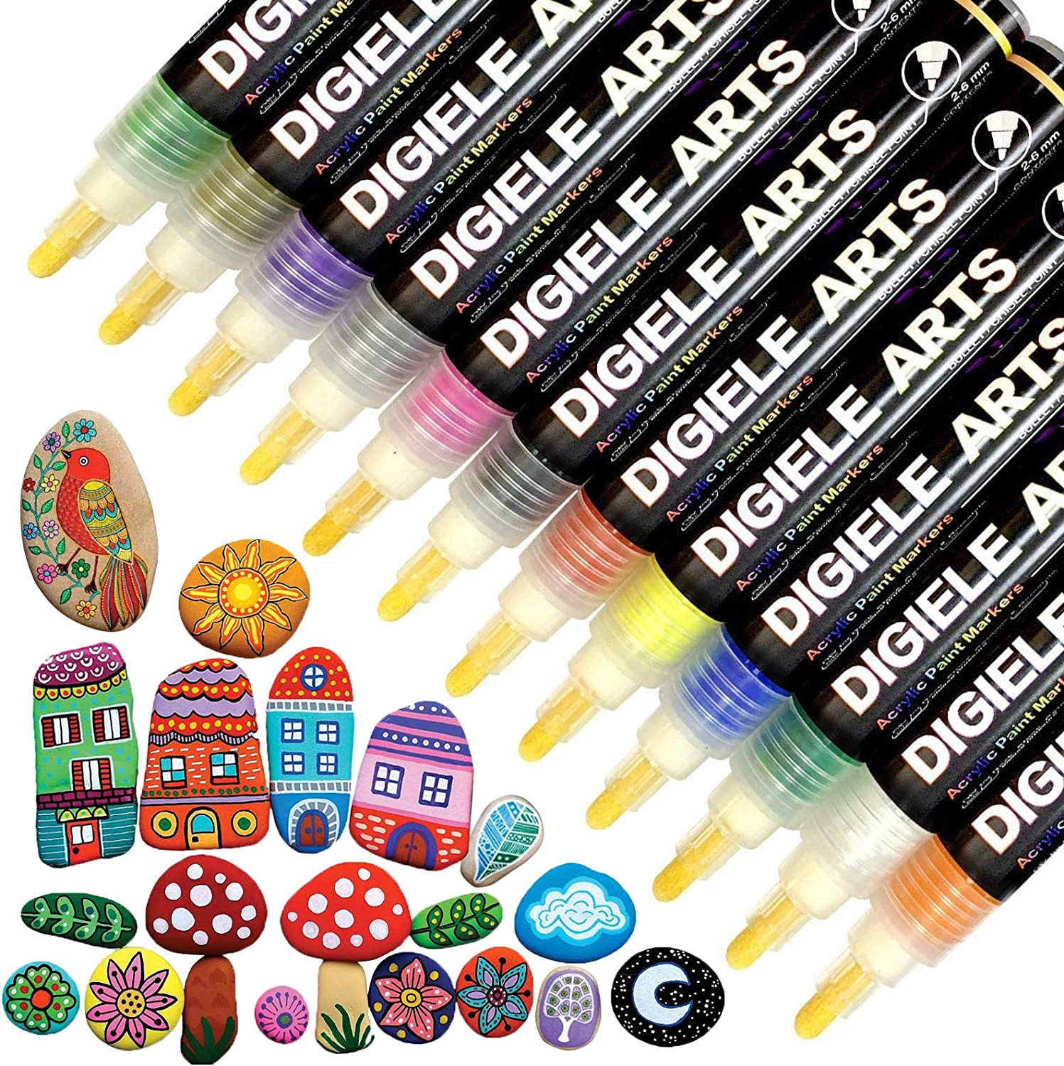Paint Pens Sale Special Price Attention brand for Rock Painting DIGIELE Acrylic Colors Ma 12