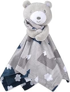 Snowcap Scene Minky Snuggle Blankets (Grey)