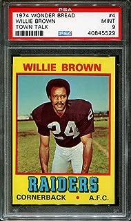 1974 WONDER BREAD TOWN TALK #4 WILLIE BROWN HOF POP 1 PSA 9 F2578002-529