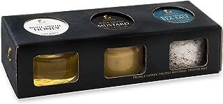 TruffleHunter Black & White Truffle Condiment Selection - Honey, Dijon Mustard & Sea Salt Gourmet Food Condiments Seasoning - In a Presentation Gift Box