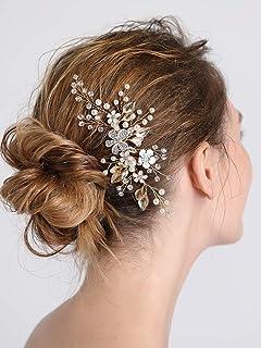 FXmimior Bridal Women Vintage Wedding Party Crystal Rhinestone Hair Comb Hair Accessories Wedding Headpiece Women Wedding Prom Hair Accessories