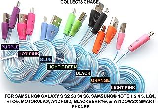سي اند سي تغير الألوان ابتسامات LED شاحن كابل يو إس بي لنقل البيانات لهواتف سامسونج جالاكسي s3، s4، S6، نوت 2، 4، 5، ال ج...