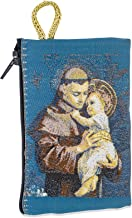 Venerare Embroidered Rosary Pouch by (Small, Saint Anthony)