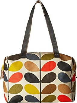 Orla Kiely - Matt Laminated Classic Multi Stem Zip Shopper
