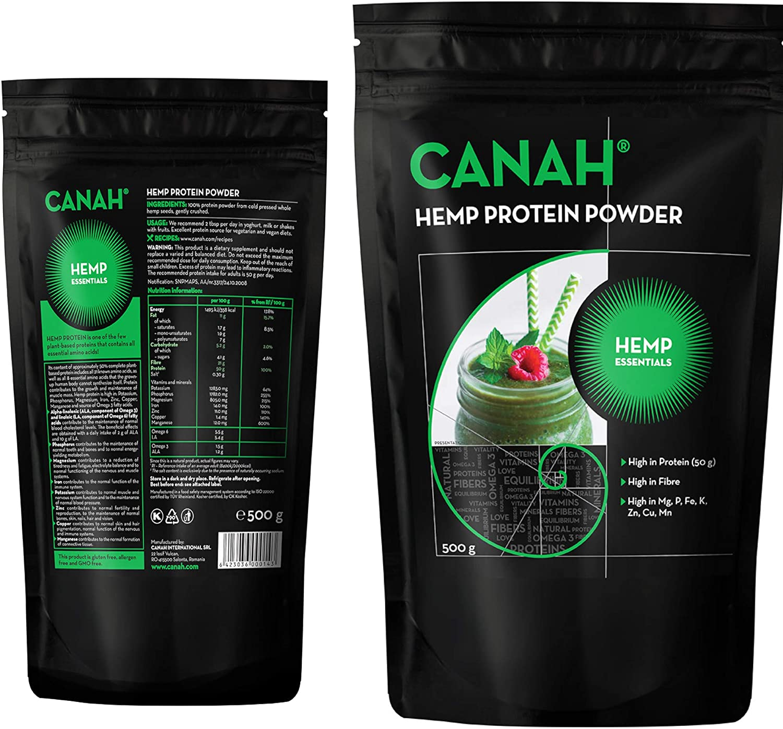 Polvo de proteína de cáñamo (500 grams): Amazon.es: Salud y ...