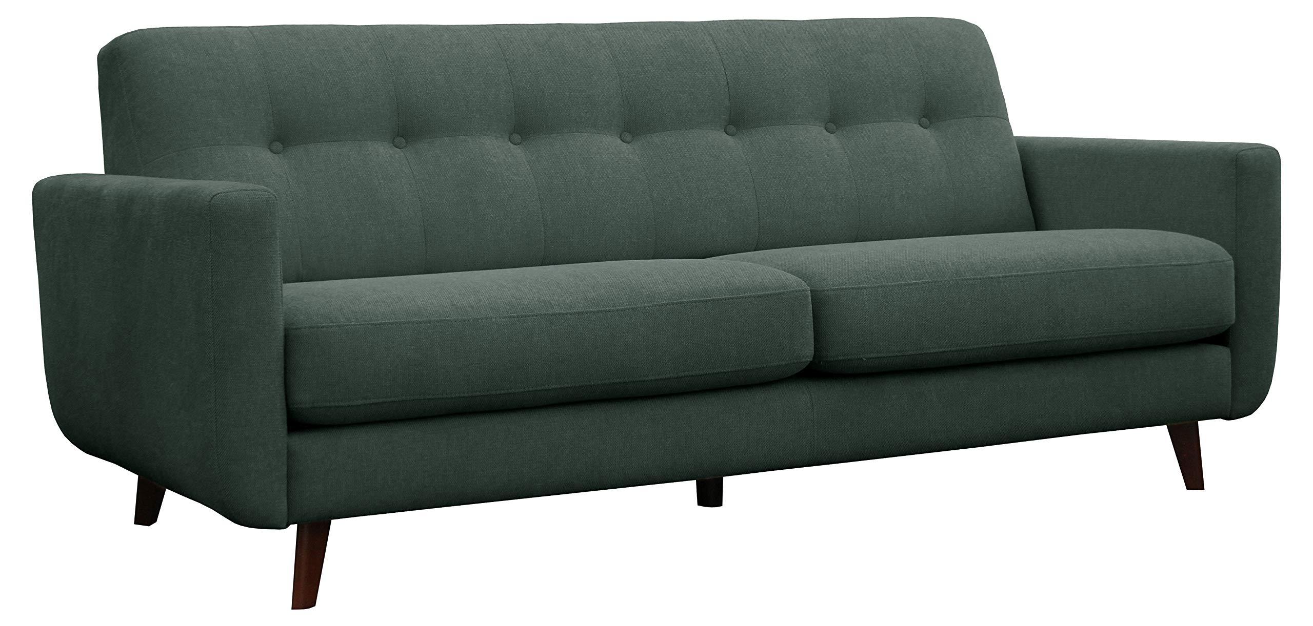 "Amazon Brand – Rivet Sloane Mid-Century Modern Sofa Couch, 79.9""W, Emerald Green"
