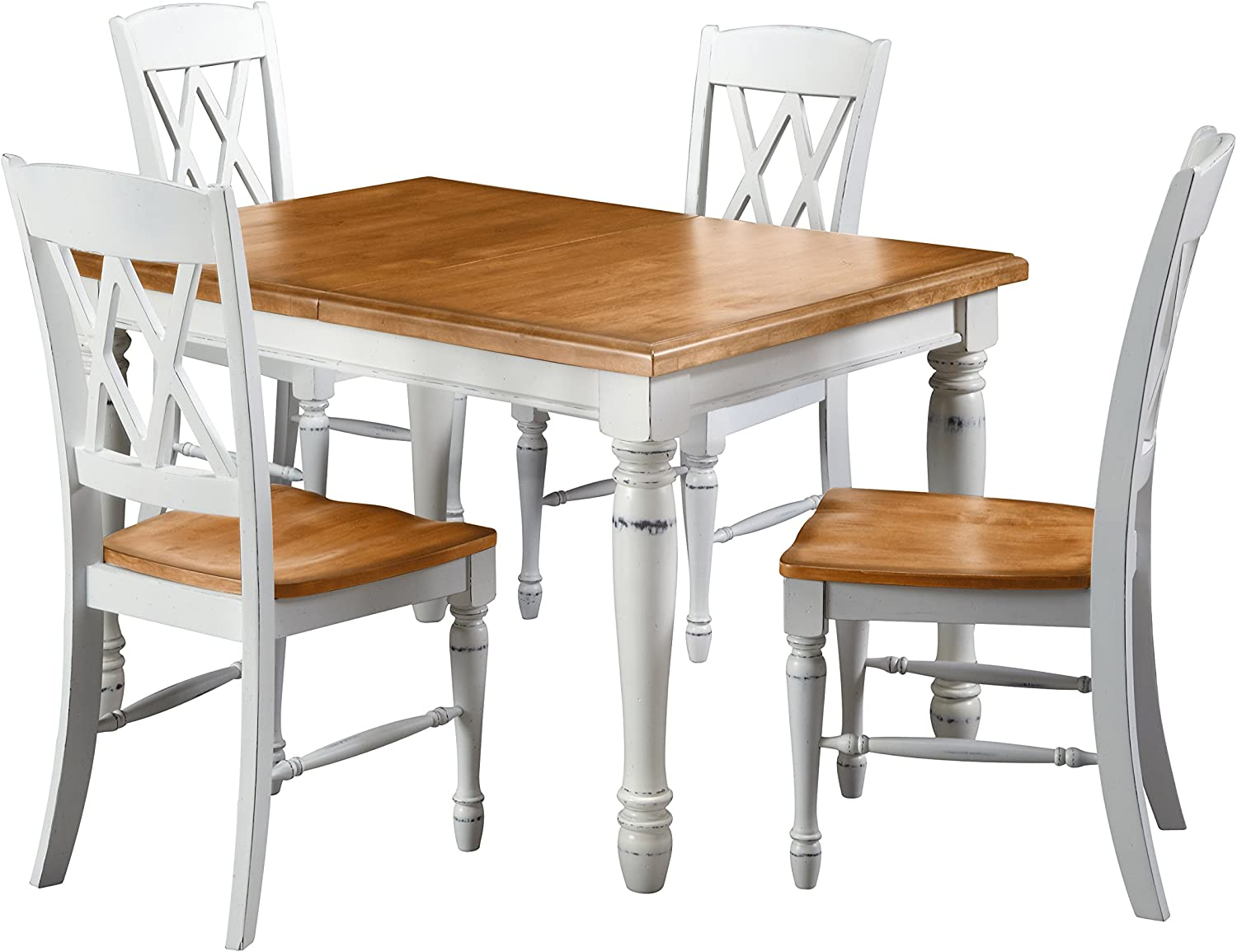 Amazon Com Monarch White Oak 5piece Dining Set By Home Styles Table Chair Sets
