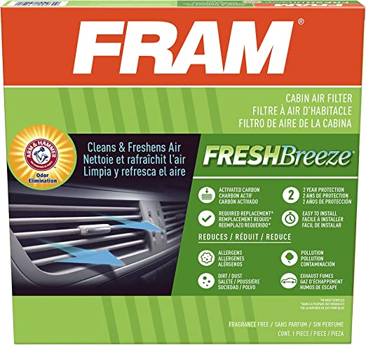 Fram Cf11671 Fresh Breeze Cabin Air Filter With Arm Hammer Baking Soda For Select Mazda And Ram Vehicles Amazon Ca Automotive