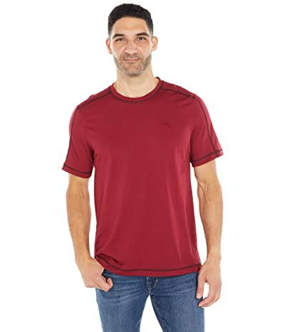 Tommy Bahama Crew Neck Lounge T-Shirt (Biking Red) Men