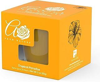 Aroma From Nature Tropical Paradise Jar Candle, Orange, Tropical Paradise, 3 kilograms