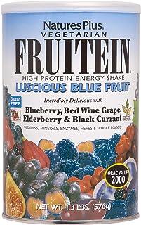 NaturesPlus Fruitein Luscious Blue Fruit High Protein Energy Shake - 1.3 lbs, Vegetarian Powder - Vitamins, Minerals, Enzymes, Herbs & Whole Foods - Non-GMO, Gluten-Free - 16 Servings