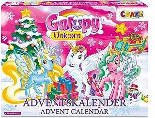 Craze Kalendarz adwentowy GALUPY Unicorn jednorożec figurki do zabawy, piękne figurki koni do zabawy + akcesoria 19450