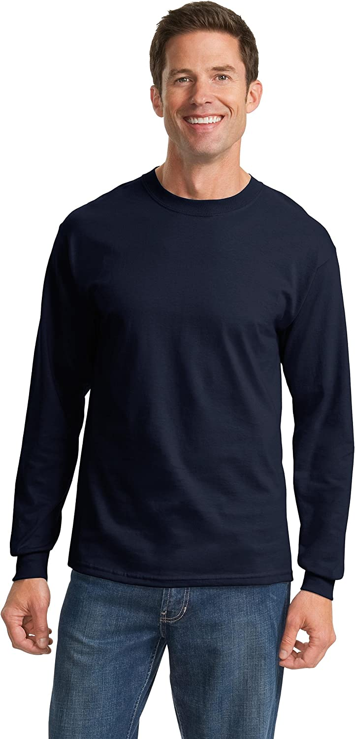 Port & Company - Tall Long Sleeve Essential T-Shirt>XLT Navy PC61LST