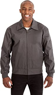 Men's Mechanics Jacket with Quilted Lining a Zip Up Work Coat