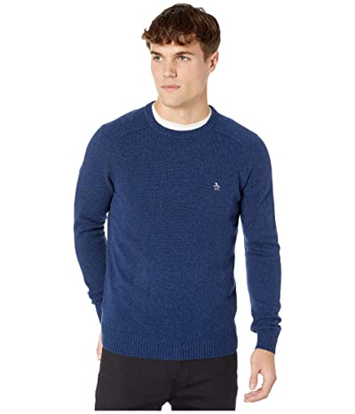 Original Penguin Lambswool Crew Neck Long Sleeve Sweater (Sargasso Sea) Men