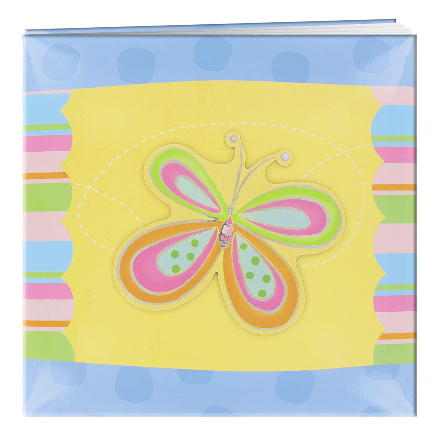 Pioneer 12 Inch by 12 Inch Postbound Applique Cover Memory Book, Butterfly
